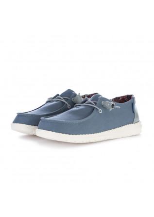 women's flat shoes hey dude wendy citadel blue
