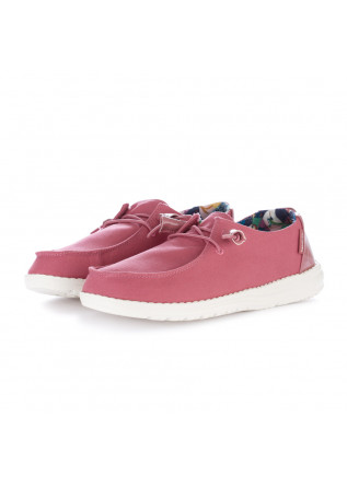 women's flat shoes hey dude wendy pink