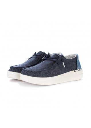 women's flat shoes hey dude wendy rise blue