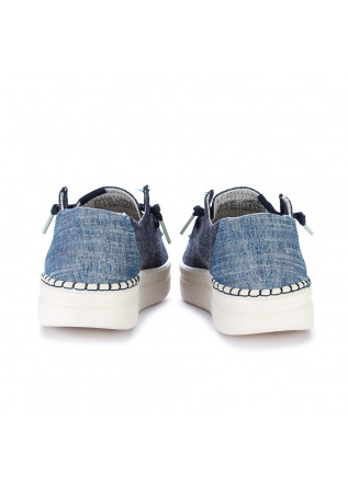 WOMEN'S FLAT SHOES HEY DUDE SHOES   WENDY RISE CHAMBRAY BLUE
