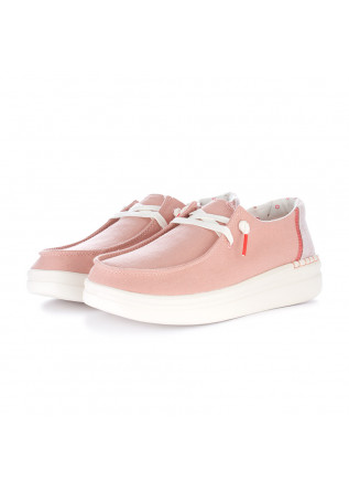 women's flat shoes hey dude wendy rise pink