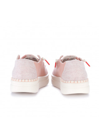 WOMEN'S FLAT SHOES HEY DUDE SHOES   WENDY RISE CHAMBRAY PINK