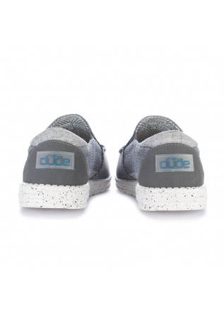 MEN'S FLAT SHOES HEY DUDE SHOES | THAD SOX GREY