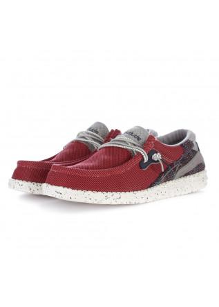 scarpe basse uomo hey dude wally hawk rosso