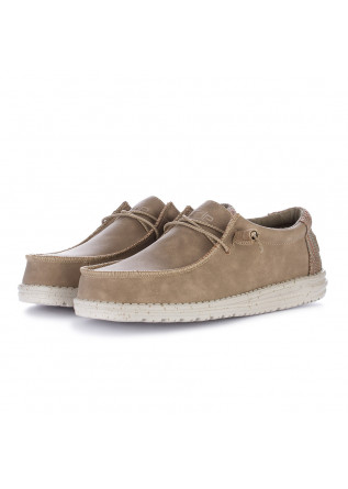 men's flat shoes hey dude wally recycled beige