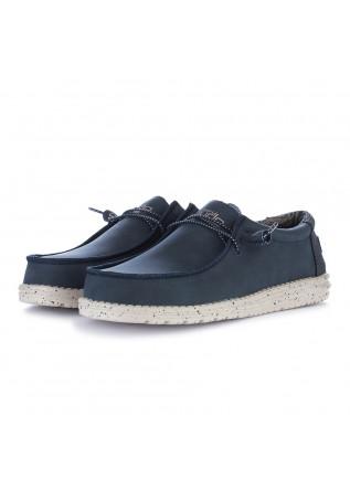 scarpe basse uomo hey dude wally recycled blu