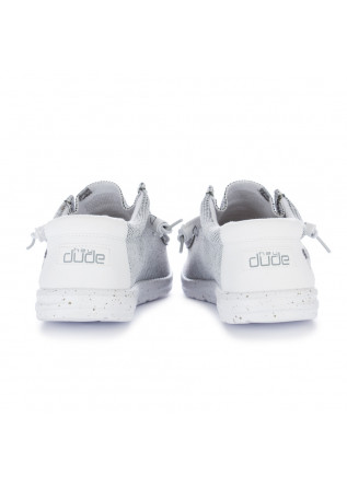 MEN'S FLAT SHOES HEY DUDE SHOES | WALLY SOX WHITE GREY