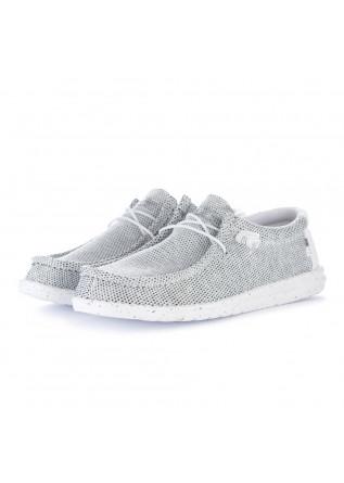 scarpe basse uomo hey dude wally sox bianco grigio
