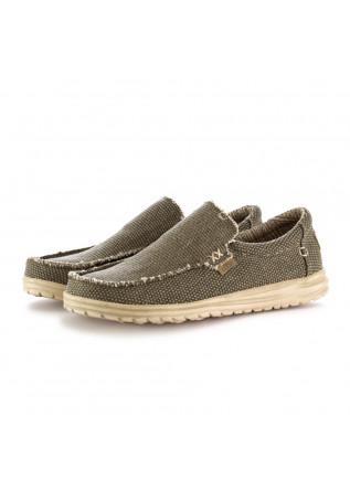 men's flat shoes hey dude mikka braided green