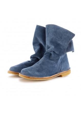 damen stiefel manufatto toscano vinci blau wildleder