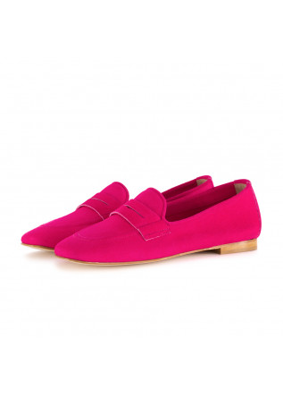 womens loafers nouvelle femme suede fuchsia