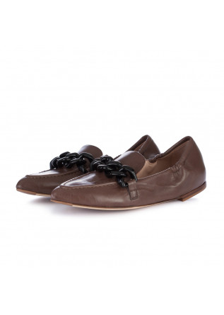 women's flat shoes lorena paggi glove brown