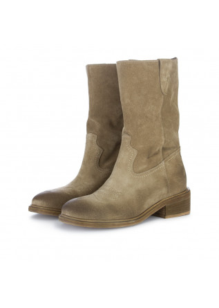 women's boots sofia len velour beige