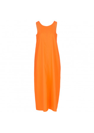 damenkleid 1978 rita popeline orange fluo
