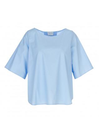 women's shirt 1978 blanche popeline light blue