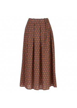 women's skirt homeward arancio orange grey