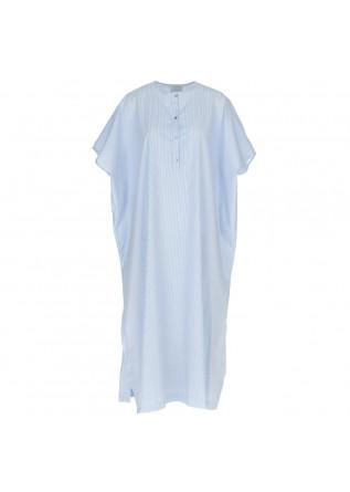 abito donna 1978 coreana rigatino bianco blu