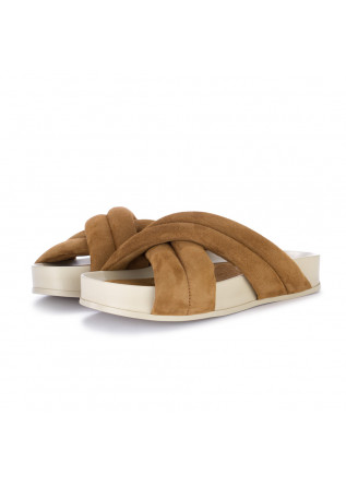 damen slippers oa non fashion suede braun