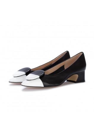 scarpe tacco donna il borgo firenze nero bianco