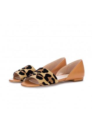 sandali donna il borgo firenze marrone leopardato
