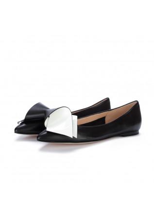 womens flat shoes il borgo firenze black white