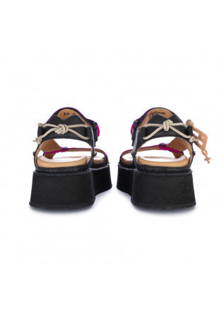 "DAMENSANDALEN BNG REAL SHOES | ""LO STILOSO"" FLATFORM FUCHSIA"