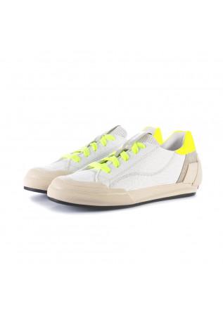sneakers donna andia fora bianco giallo fluo