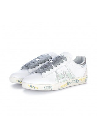 womens sneakers premiata andyd white silver