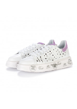 sneakers donna premiata belle bianco lilla