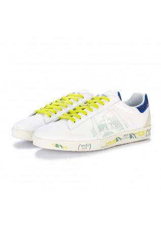 mens sneakers premiata andy white blue yellow