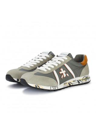 mens sneakers premiata lucy grey brown