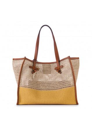 shopper bag gianni chiarini marcella beige yellow