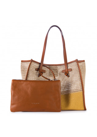 WOMEN'S SHOPPER BAG GIANNI CHIARINI | MARCELLA CANABIC BEIGE YELLOW