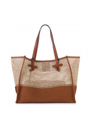 shopper bag gianni chiarini marcella beige brown