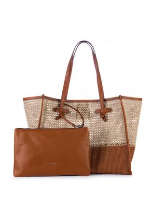 WOMEN'S SHOPPER BAG GIANNI CHIARINI | MARCELLA CANABIC BEIGE BROWN