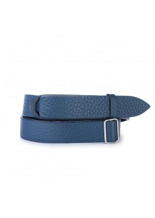 cintura uomo orciani blu senza fibbia