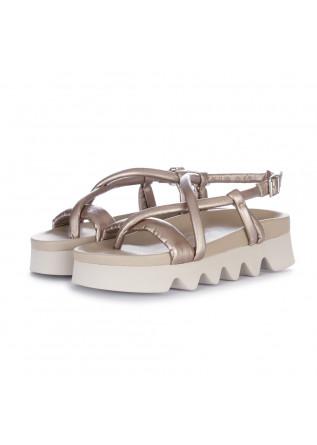 womens sandals patrizia bonfanti yasu metallic