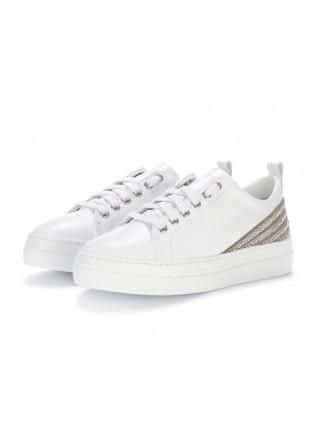 womens sneakers stokton white glitter