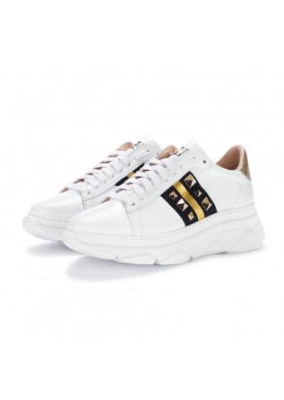 sneakers donna stokton bianco oro
