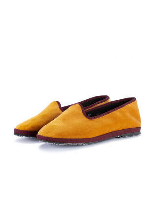 womens flat shoes miez cloe yellow bordeaux