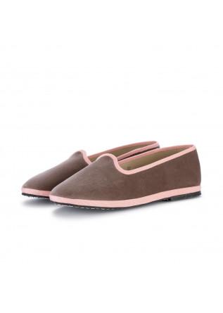 womens flat shoes miez cloe brown pink