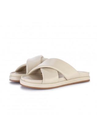 womens sandals habille jessica cream white