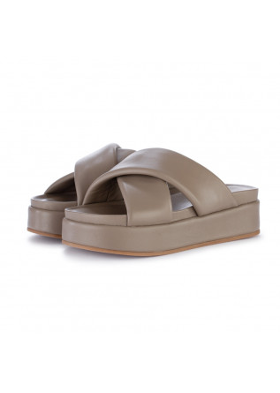 womens sandals habille grace taupe grey