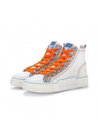 womens sneakers semerdjian white glitter