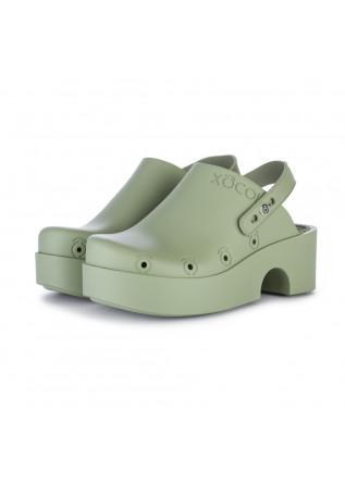 womens clogs xocoi green