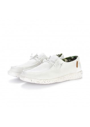 women's flat shoes hey dude white cocco