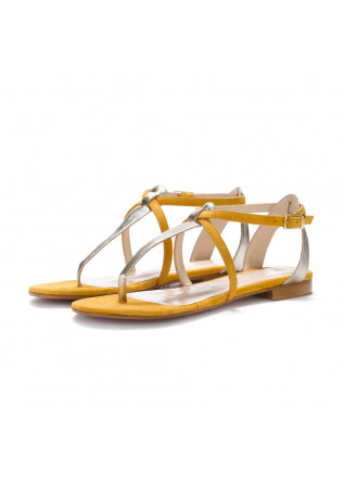 womens sandals positano in love yellow silver