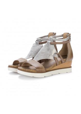 sandali zeppa mjus gazzella marrone argento