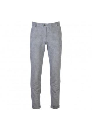 mens trousers distretto12 michele blue grey