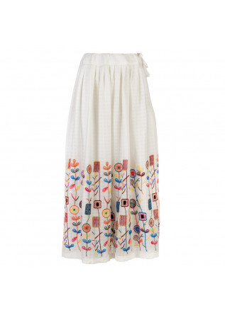 skirt francesca bassi lombok embroidery white